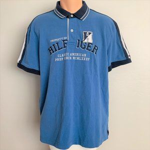 Tommy Hilfiger Blue Custom Fit Patch Polo Shirt
